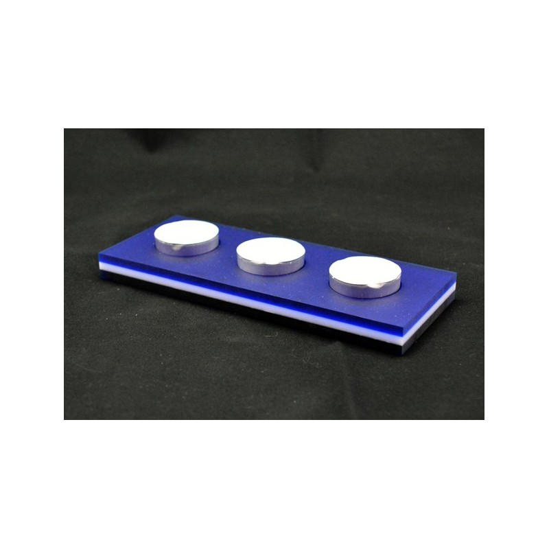 Suporte Tealight - Acrílico Satinado Azul e Branco