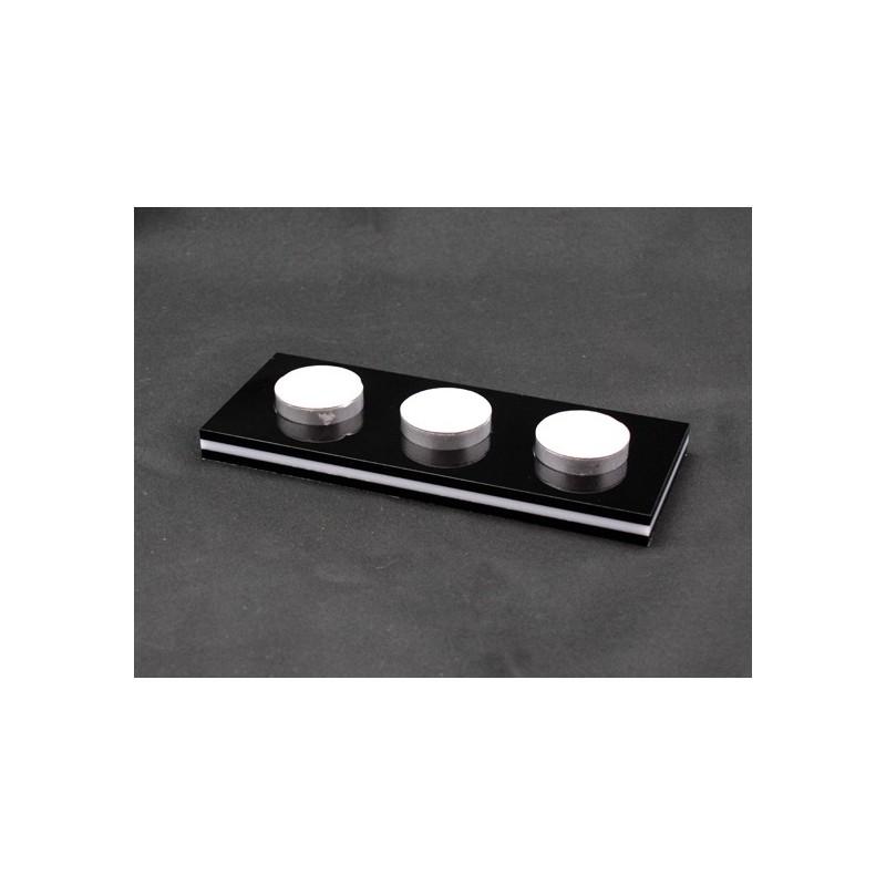 Suporte Tealight - Acrílico  Preto e Branco